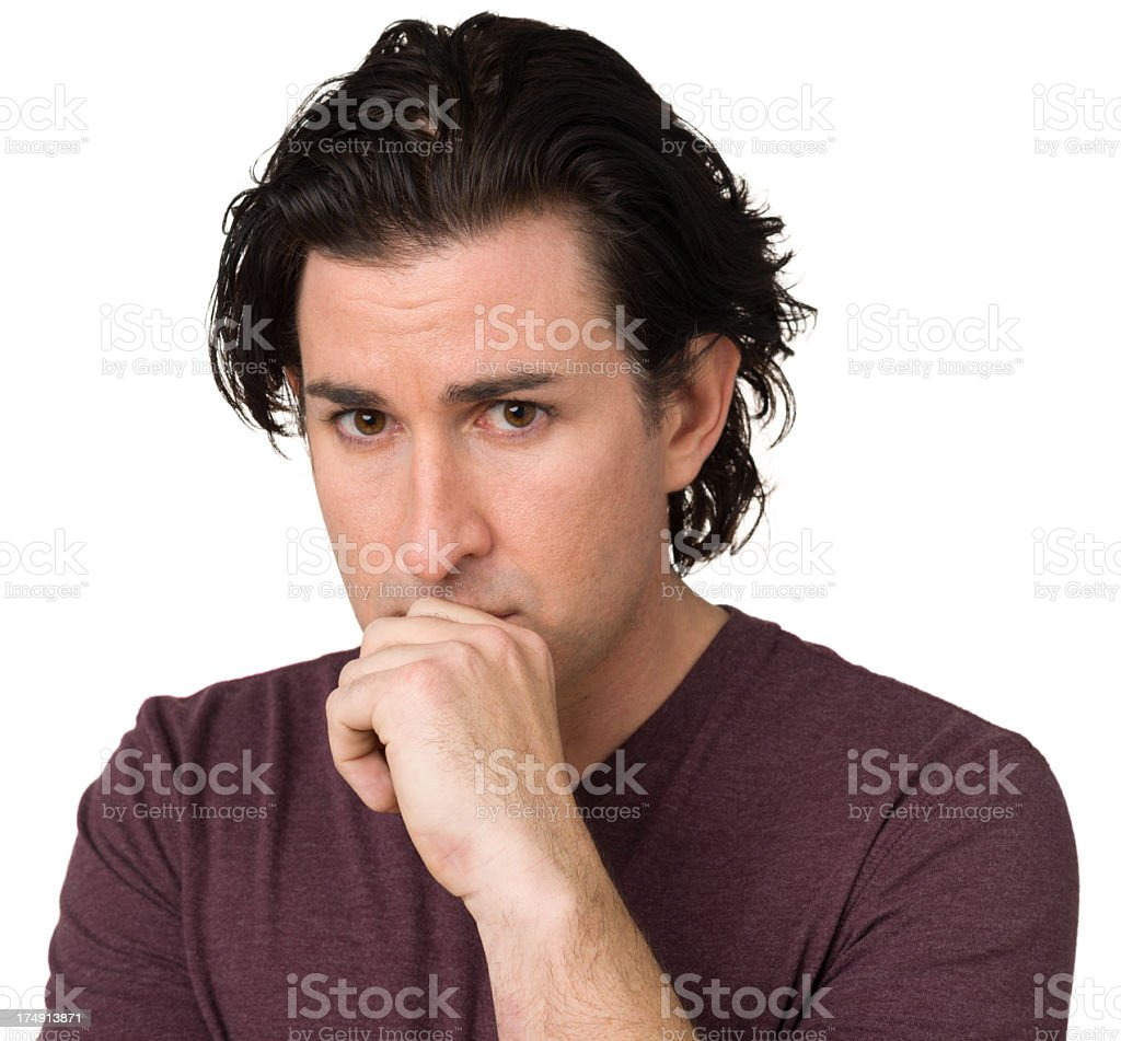 Concerned Man royalty-free stock photo