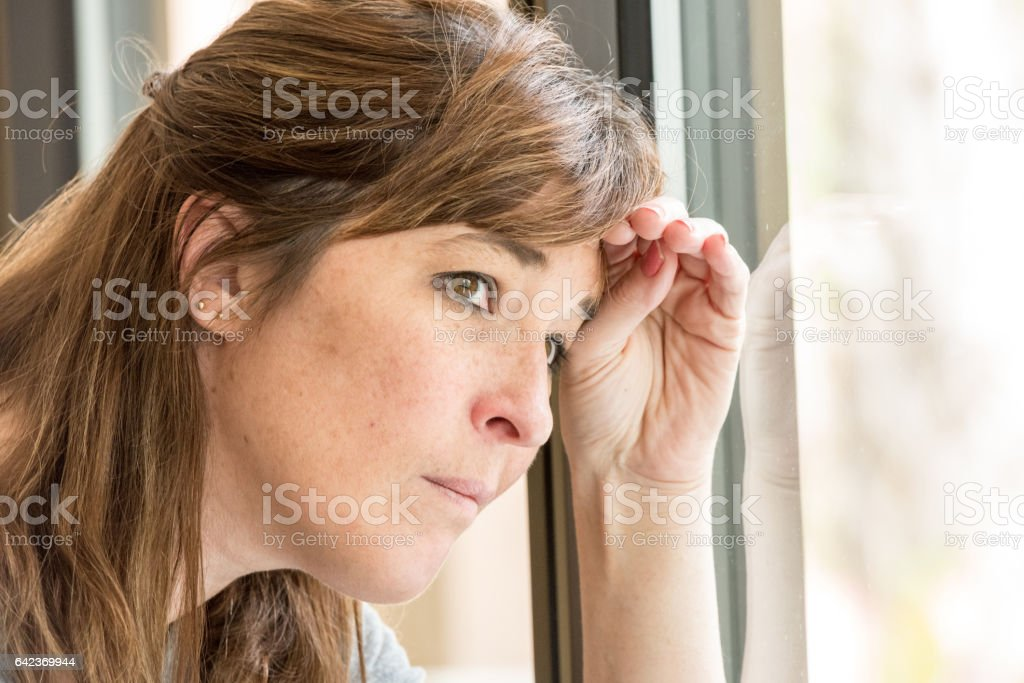 71e99113a562 Concerned Mature Caucasian Woman Stock Photo & More Pictures of 30 ...