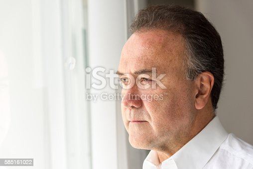 584608574 istock photo Concerned mature man 585161022