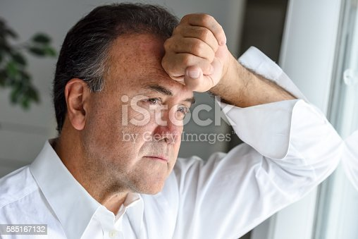 istock Concerned mature man 585167132