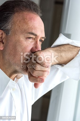 istock Concerned mature man 585308344