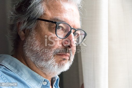 584608574 istock photo Concerned mature man 672278426