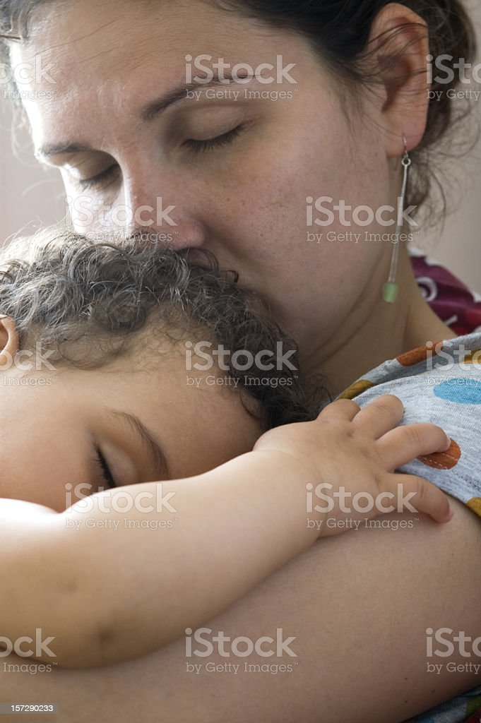 Concerned mother royalty-free stock photo