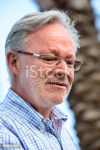 istock Concerned senior man 488641662