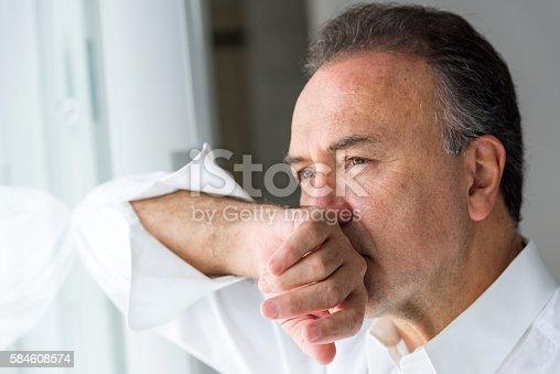 istock Concerned senior man 584608574
