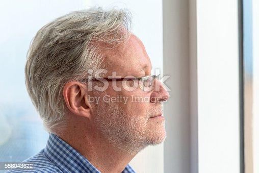 istock Concerned senior man 586043622