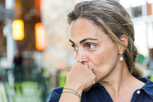 istock Concerned serious mature woman 689808770