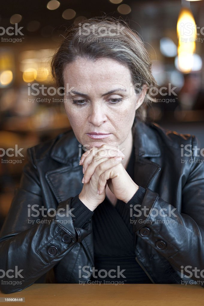 Concerned Woman royalty-free stock photo
