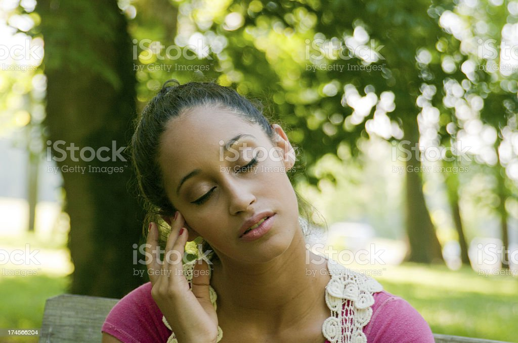 Concerned/Thinking Woman royalty-free stock photo