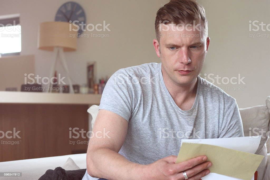Concerning News stock photo