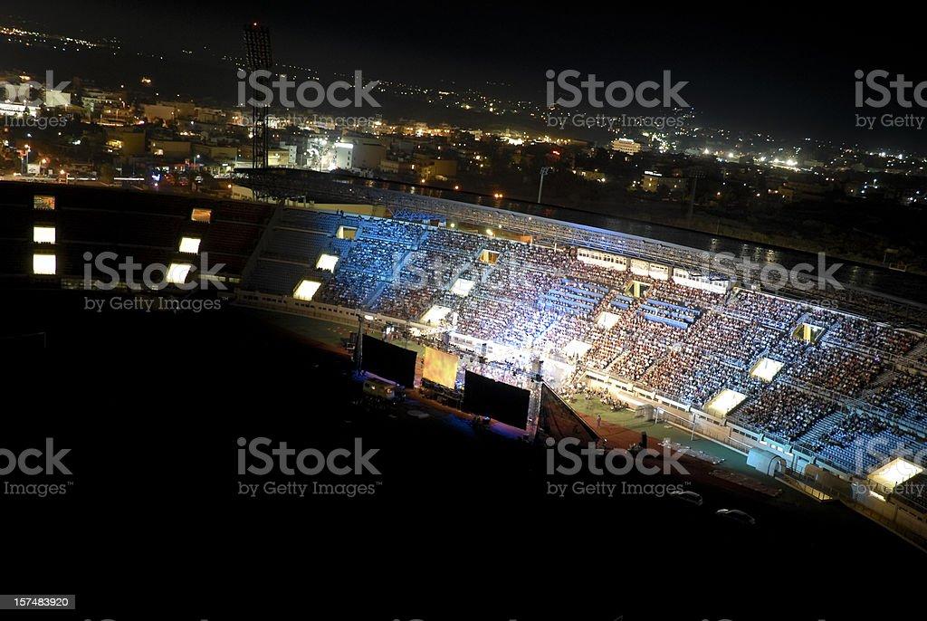 Concert at night stock photo