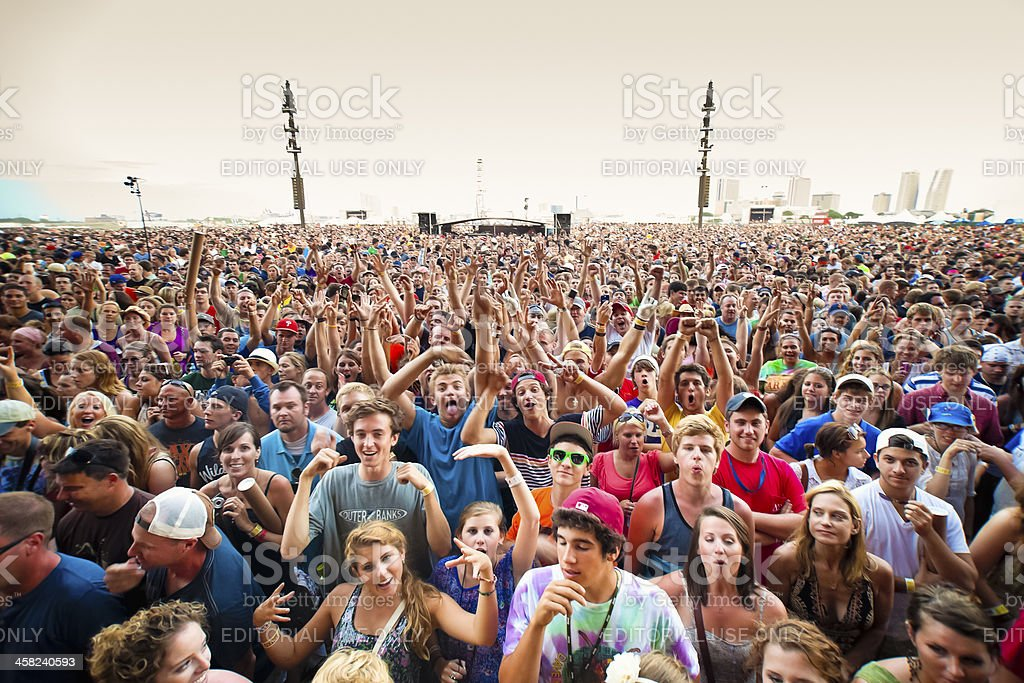 Concert Crowd Cheering royalty-free stock photo