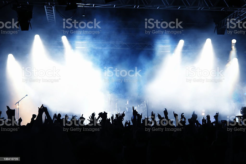Concert Crowd - Royalty-free Arts Culture and Entertainment Stock Photo