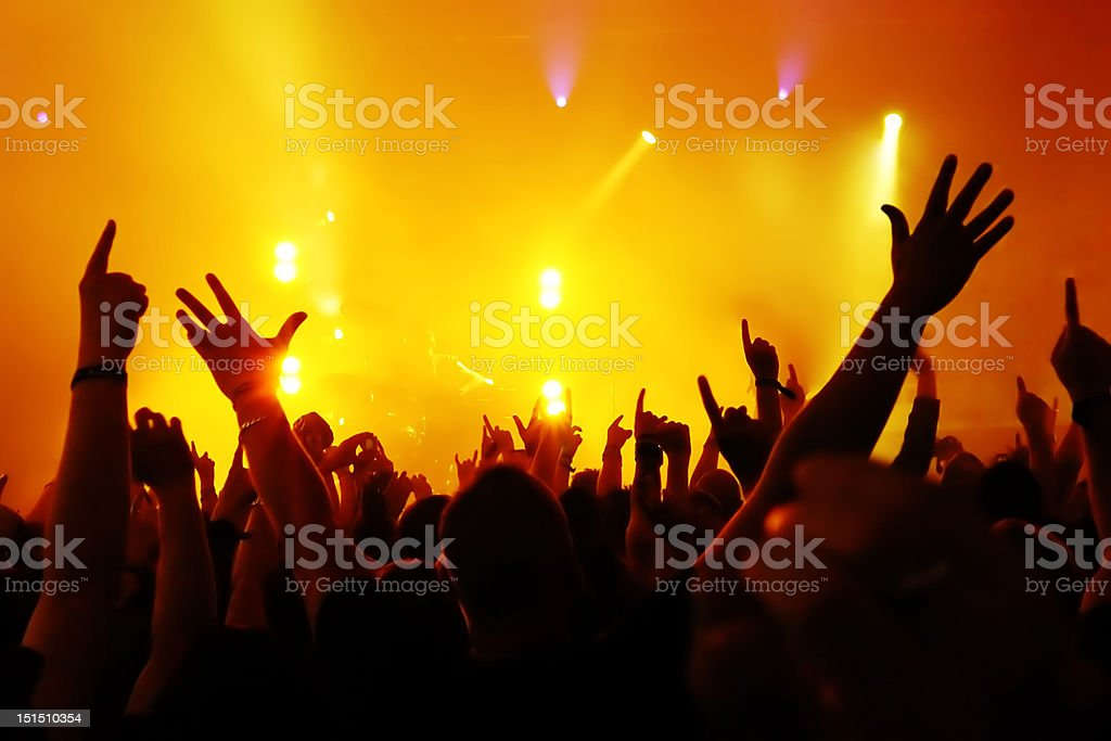 Concert Crowd - Royalty-free Adolescence Stock Photo
