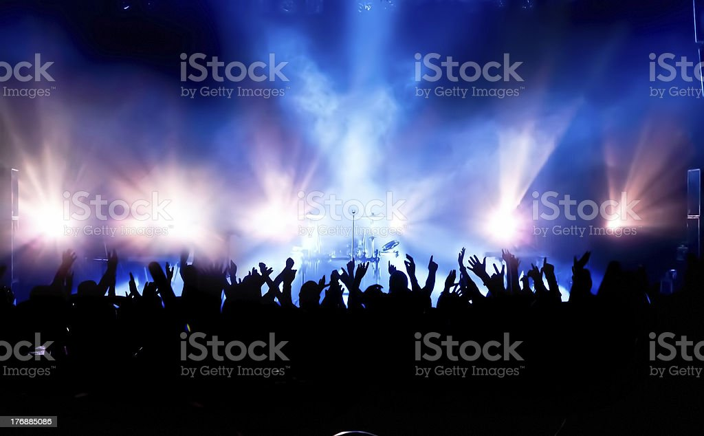 Folla concerto foto stock royalty-free