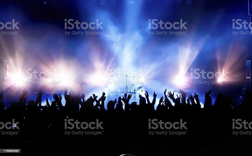 Multidão de Concerto - foto de acervo