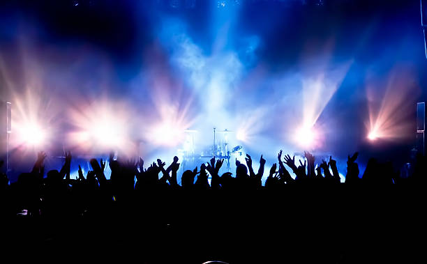 concert crowd - arts culture and entertainment stock pictures, royalty-free photos & images