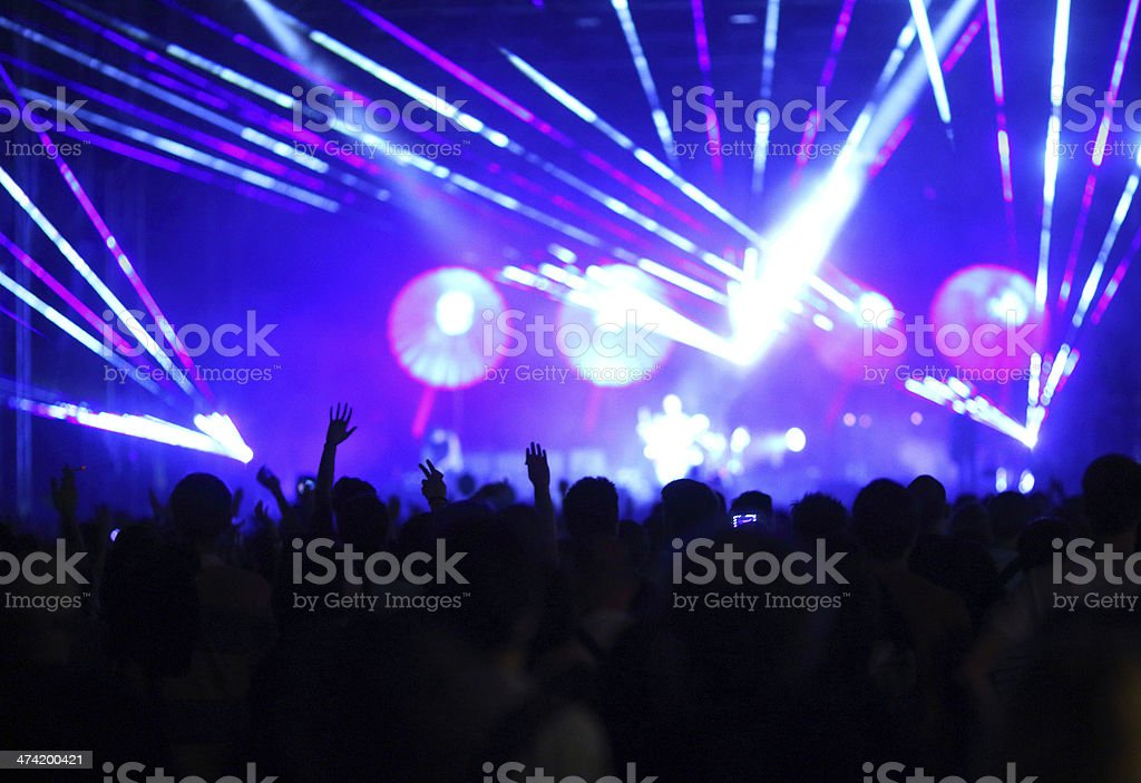 Concert crowd. royalty-free stock photo