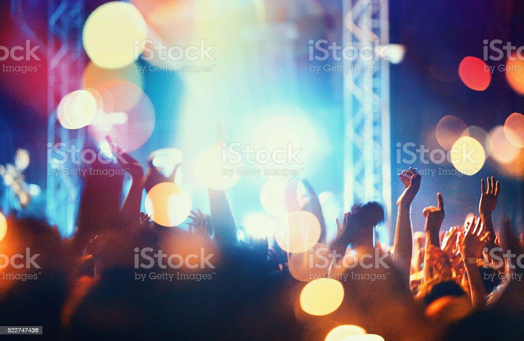 Konzert Menschenmenge. - Lizenzfrei Applaudieren Stock-Foto