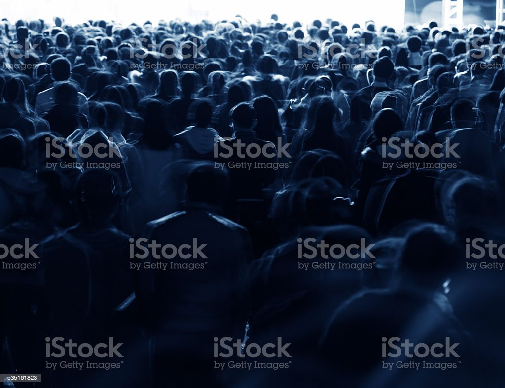 Large crowd of people at a rock concert