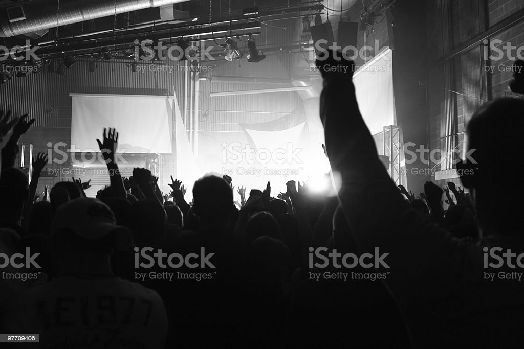 Concert Crowd (L) royalty-free stock photo