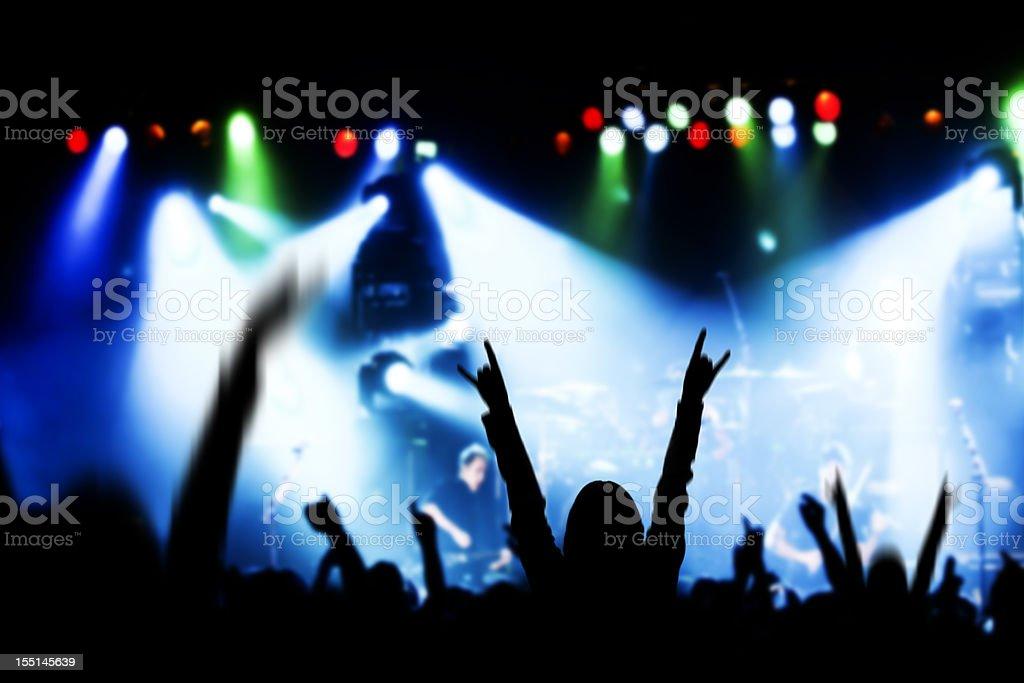 Concert Excitement stock photo