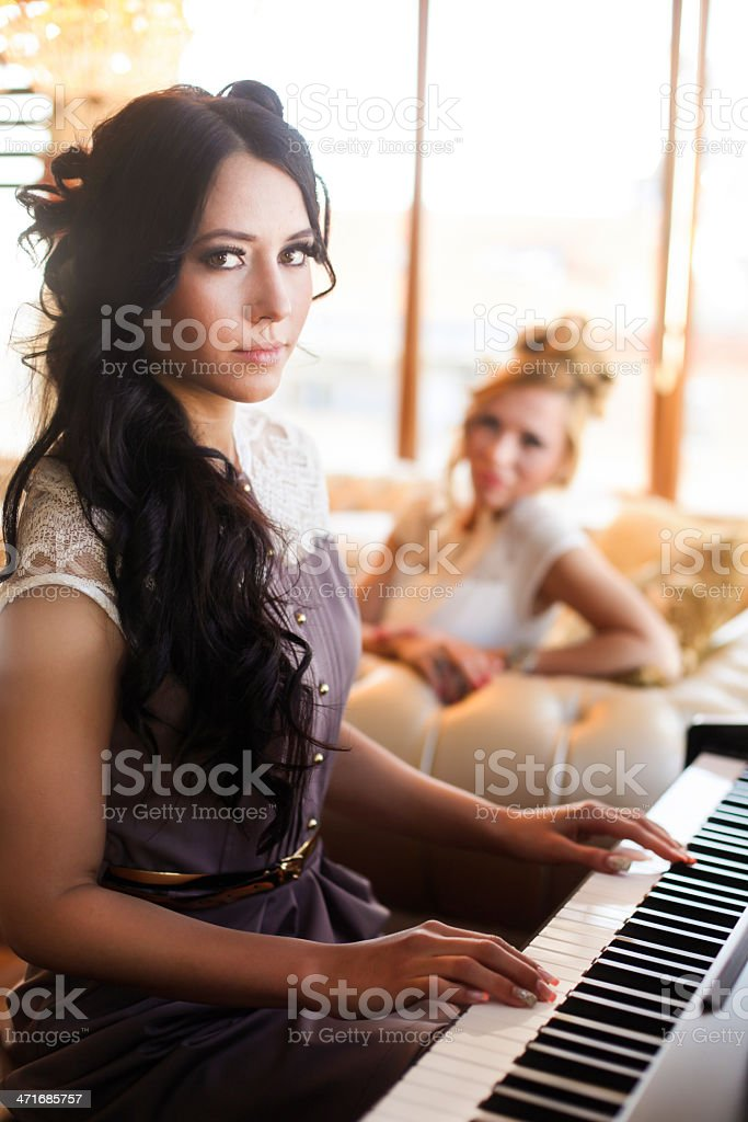 Concert for two royalty-free stock photo