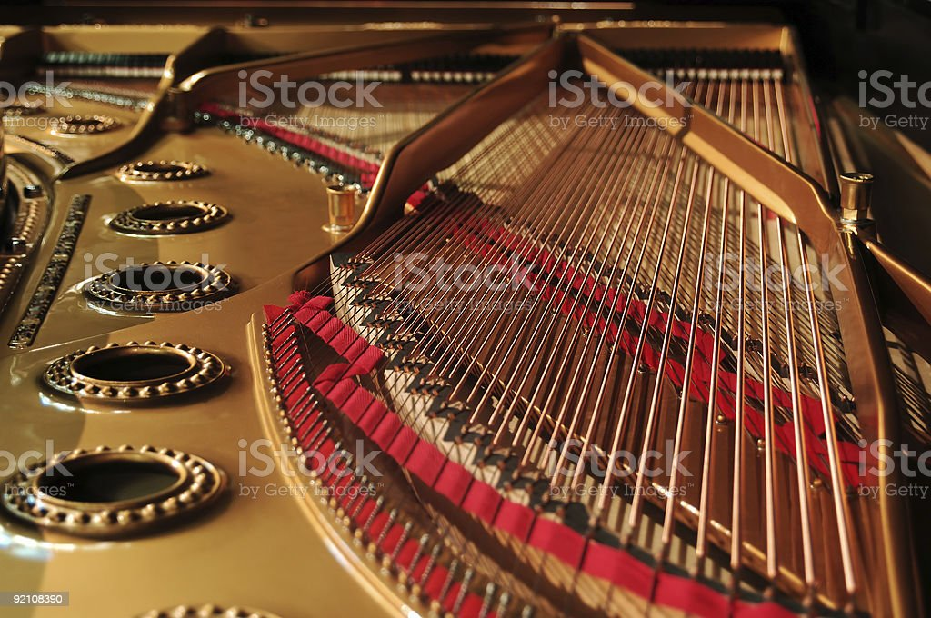 concert grand piano interior royalty-free stock photo