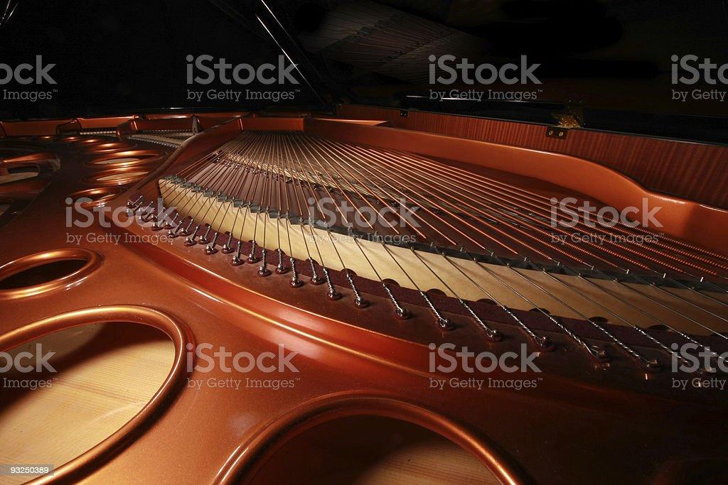 Concert Grand Piano Sound Board stock photo