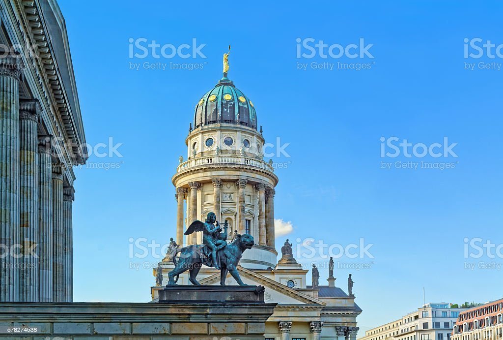 Concert hall and French Church in Berlin, Germany stock photo