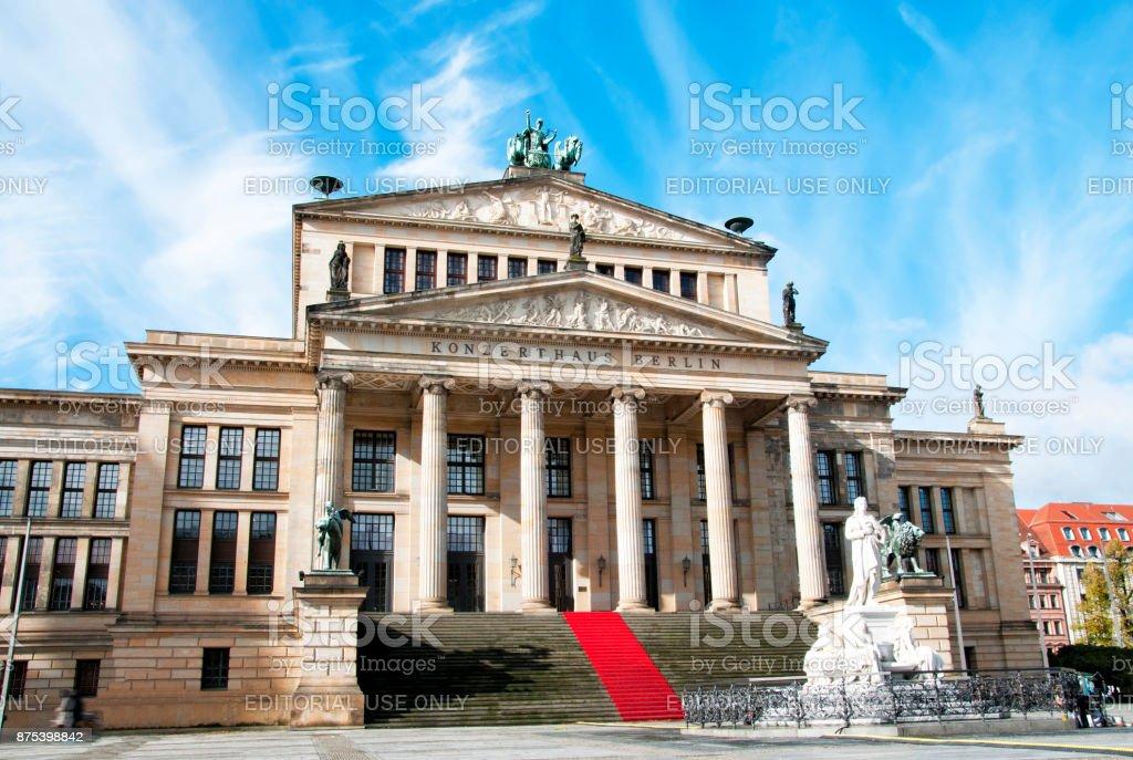 Concert Hall (Konzerthaus) at Gendarmenmarkt square, Berlin stock photo