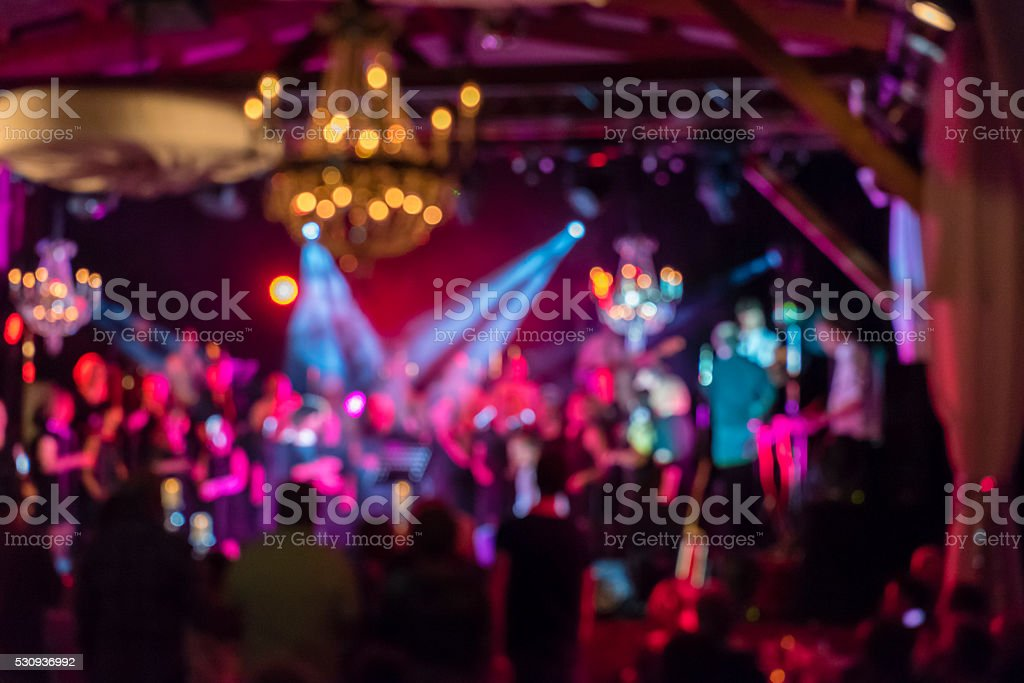 Concert hall background lights stock photo