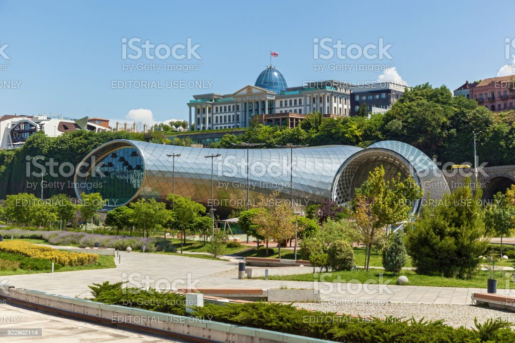 Concert Hall in Tbilisi. stock photo