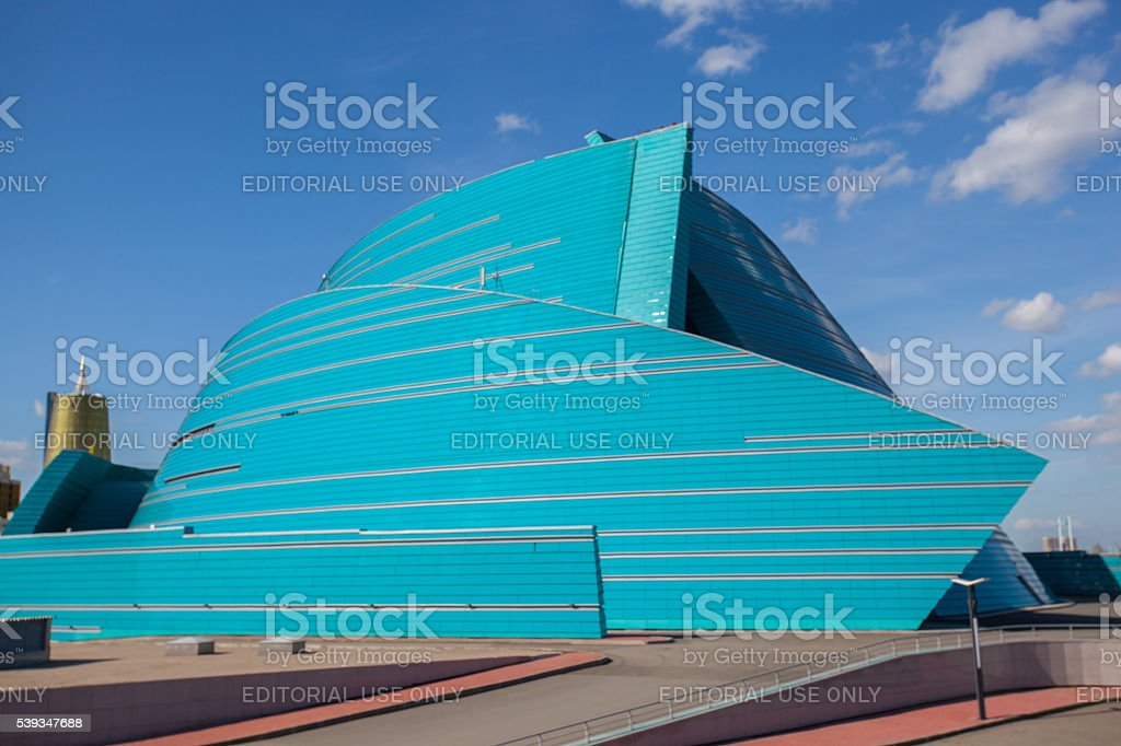 Concert Hall Kazakhstan in Astana stock photo