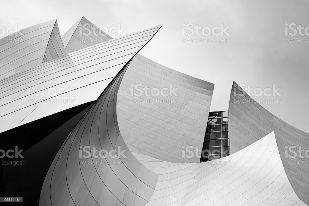 Concert Hall, Los Angeles, California stock photo