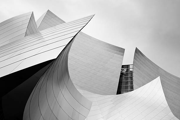 concert hall, los angeles, california - architecture stock photos and pictures
