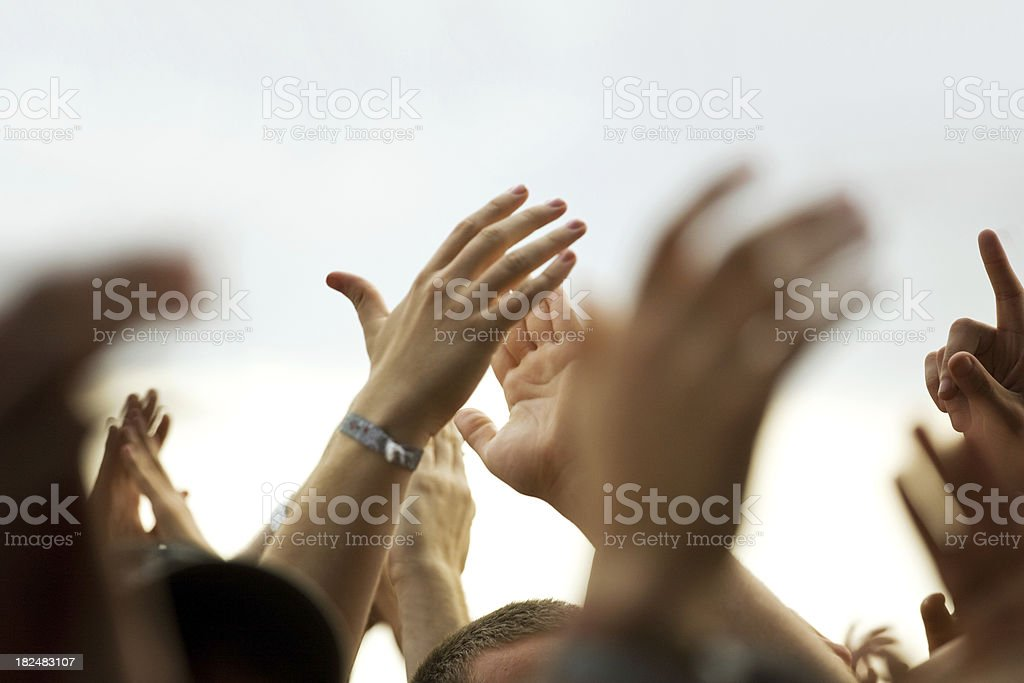 Concert Hands royalty-free stock photo