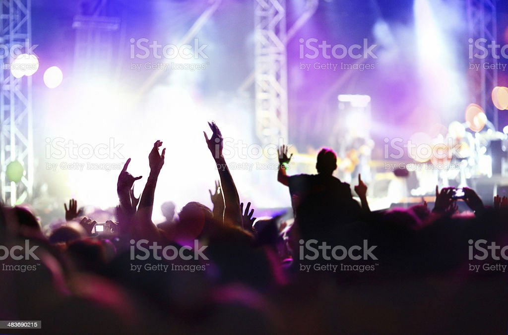 Concert hype. royalty-free stock photo
