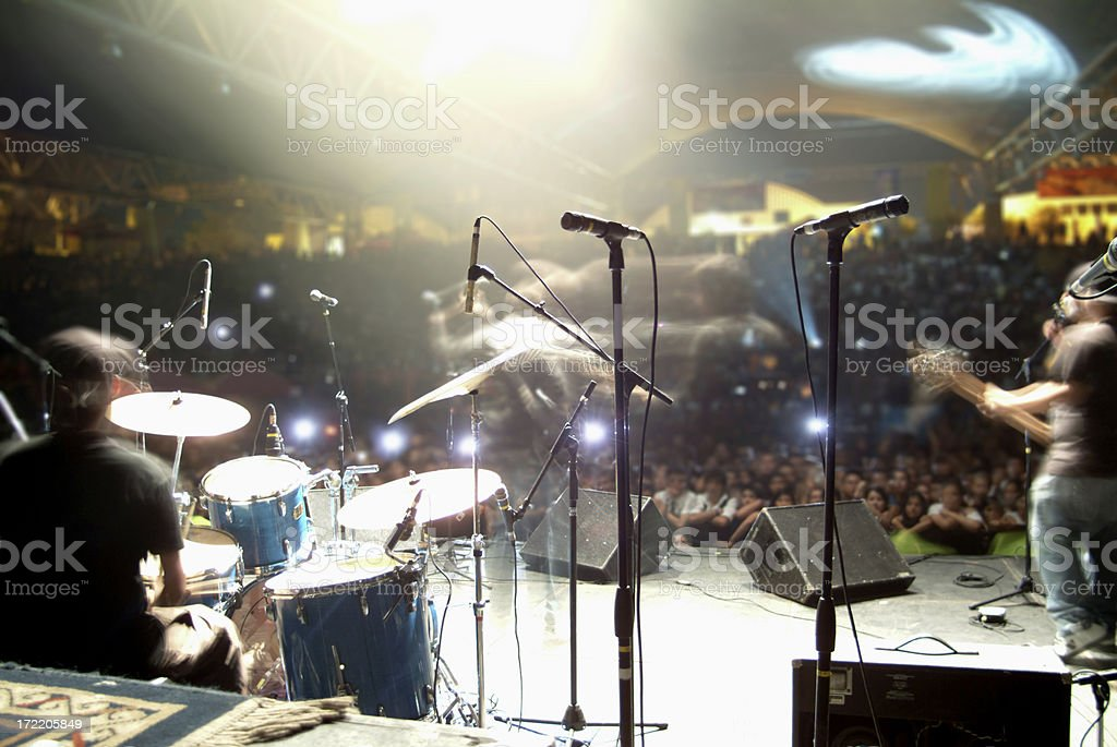 Concert in motion stock photo