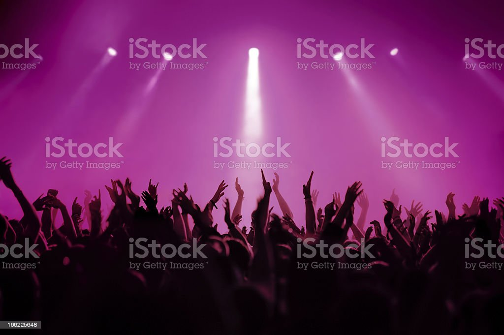 concert in pink stock photo