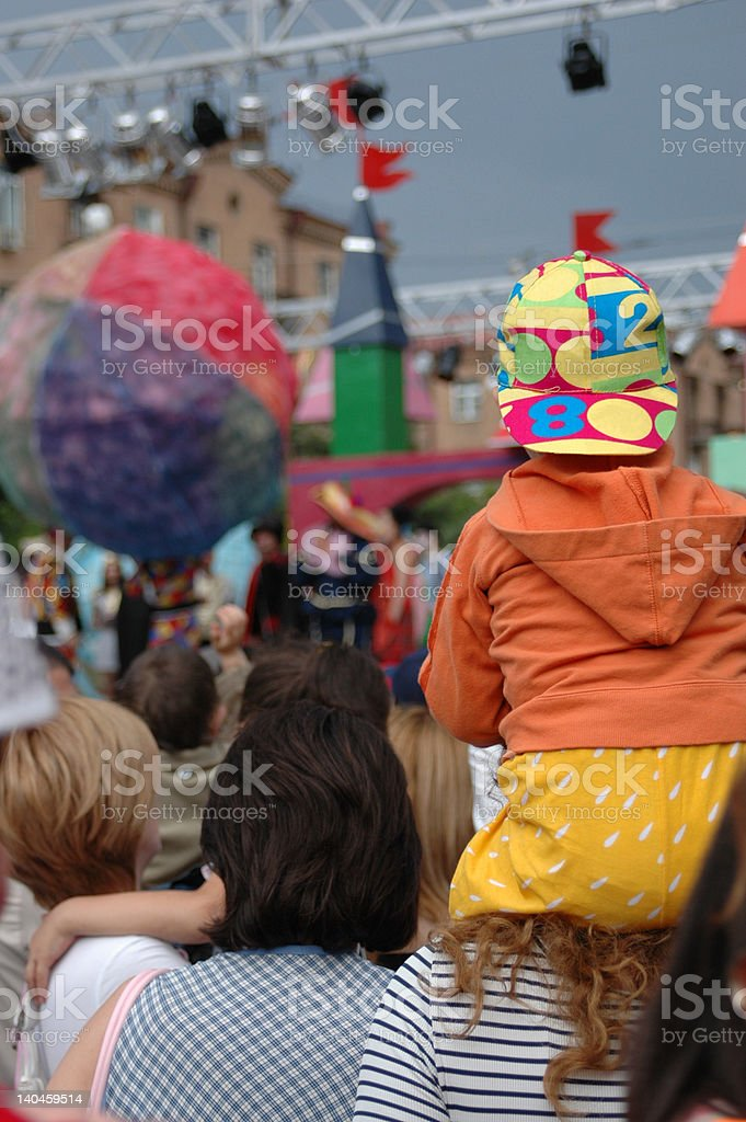 Concert in the park royalty-free stock photo