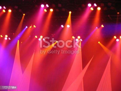 Colorful concert stage lights