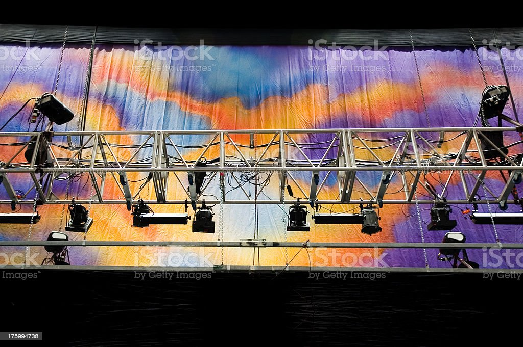 Concert Lighting Truss stock photo