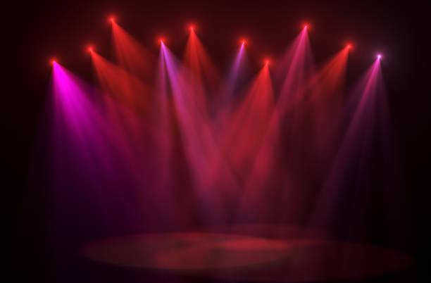 konzert licht hintergründe - stage musical stock-fotos und bilder