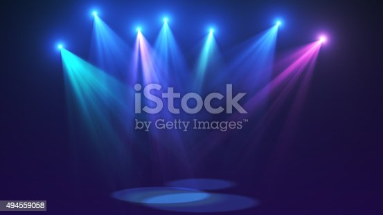 istock Concert lights (super high resolution) 494559058