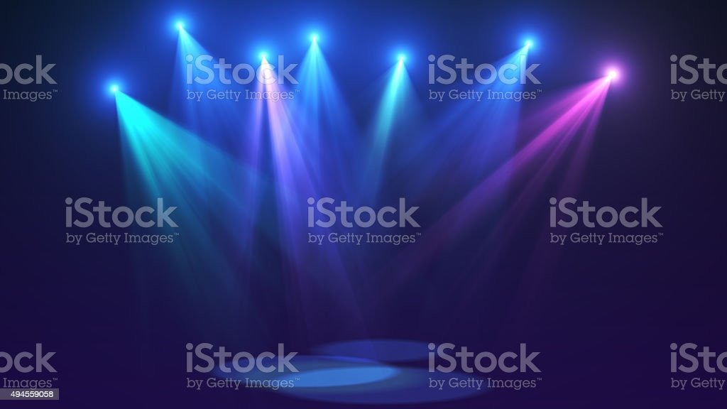 Concert lights (super high resolution) stock photo
