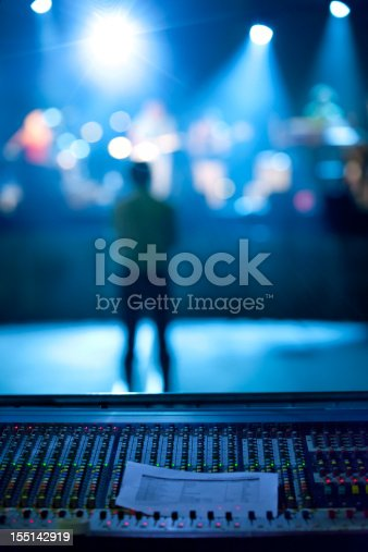 istock Concert: Music band and lighting equipment 155142919