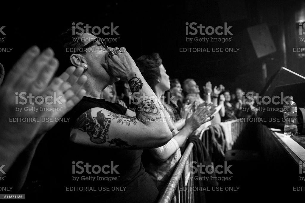 Concert of Belgian rock singer Arno at Melkweg Amsterdam stock photo