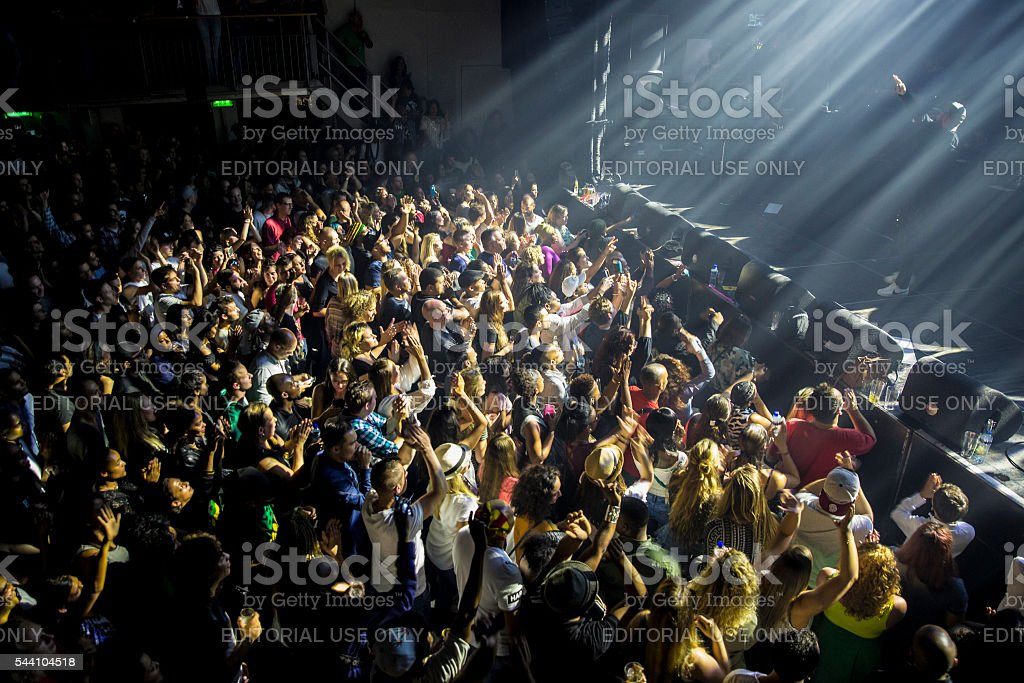 concert of reggae singers Gentleman and Ky-Mani Marley Melkweg Amsterdam stock photo