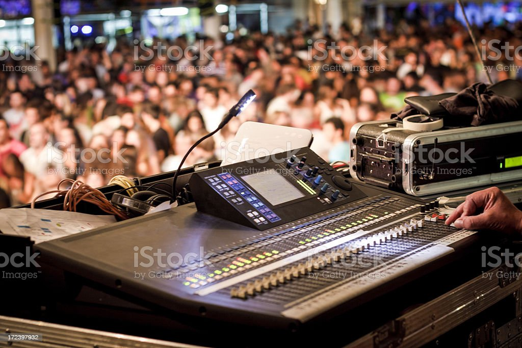Concert of rock royalty-free stock photo